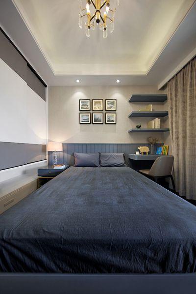 次卧氛围客房与儿童房,都还原了全屋简洁,深邃的精致特点。