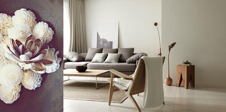 设计师将空间大量留白,光线从窗户洒入室内,营造干净,清透的视觉效果。
