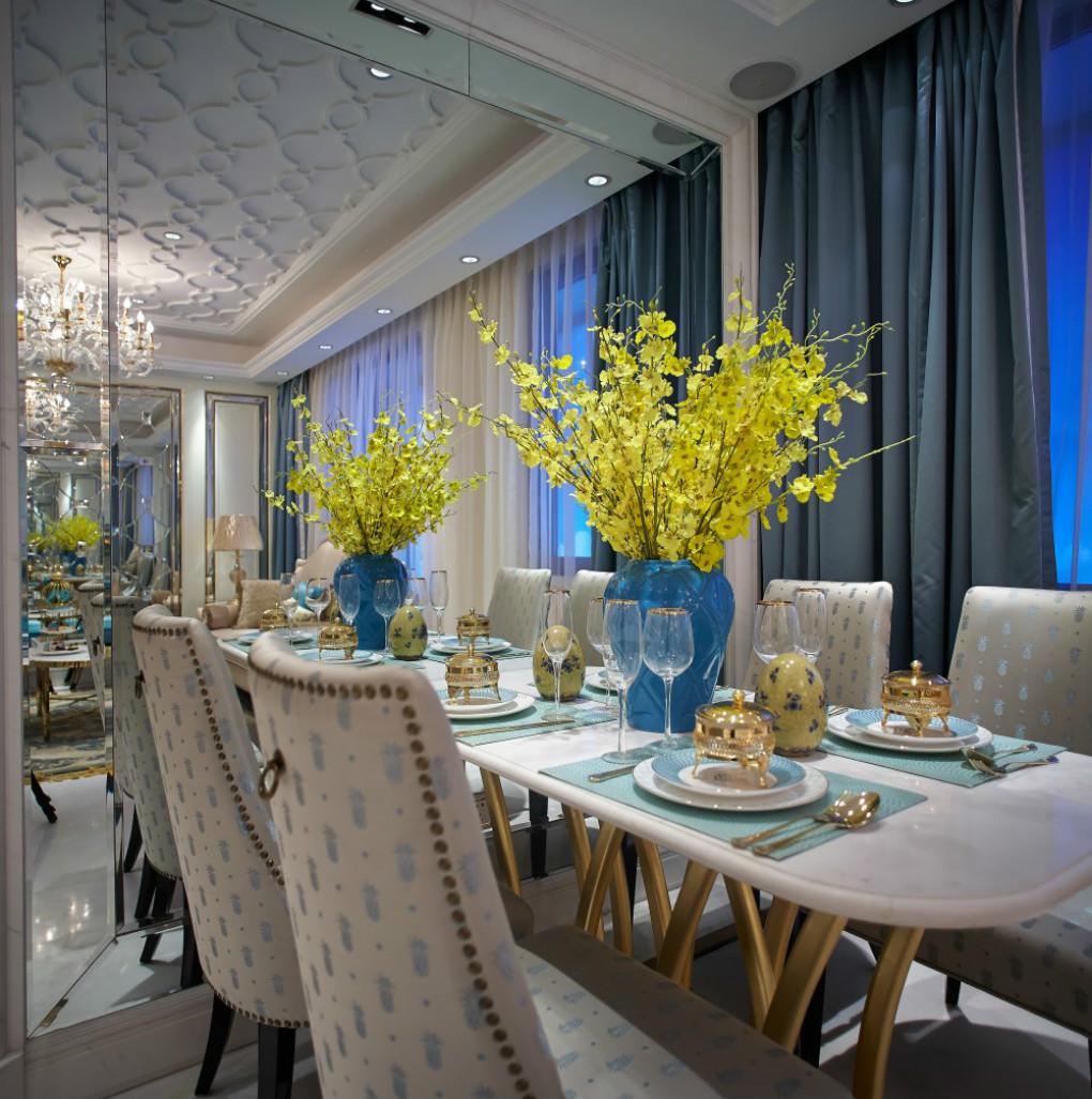 厨房的小餐厅,一个岛台的款式就足够方面平时一家人吃饭所用