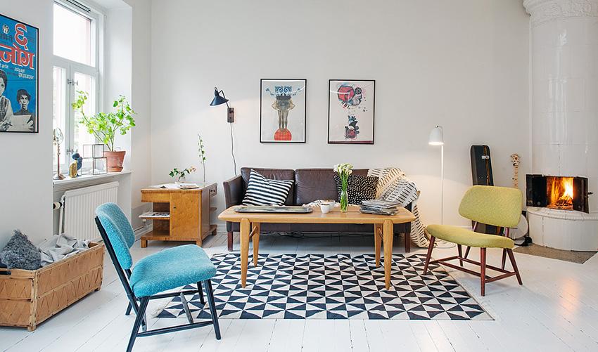 客厅规格较为小巧,巧妙的运用不会显得拥挤,反而宽敞简洁
