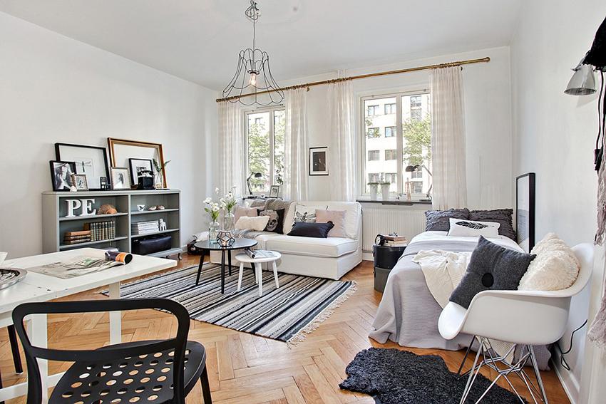 你觉得26.5平米能做什么,就是这样有限的面积,客厅、餐厅、厨房、卫生间一样不少。