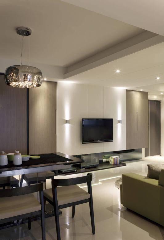 照明混搭入闪光玻璃罩式水晶灯,现代感的灯饰选用精准融合男女主人元素期待。