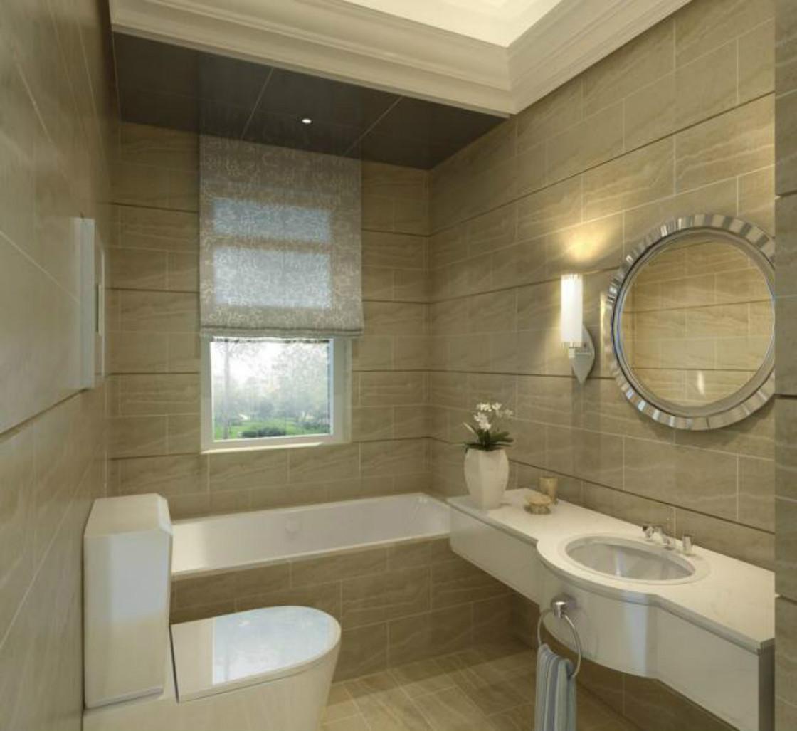 卫浴室整个的四周墙面以瓷砖为装饰,是整个空间有着通透明亮之感,充满着现代的时尚设计,很是别致