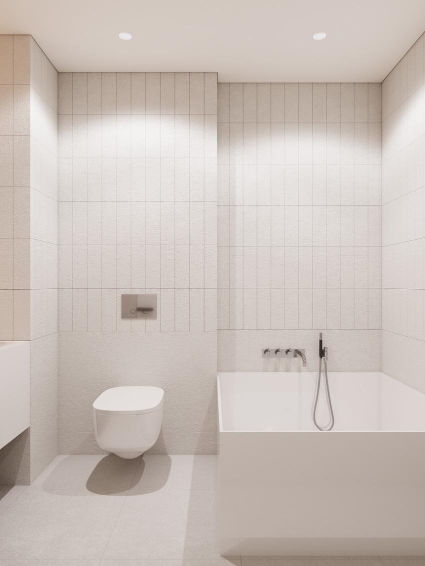 如此洁净的浴室,让人可以无限放空。