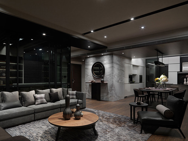简约感的风格家具诉说着当代美学,加上软件的搭配,呈现独具风格的空间气息。