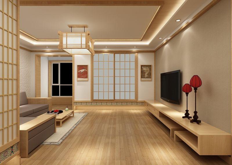 地板、沙发、茶几无处不在的原木元素,连灯都是以木质造型为主,看上去整体拥有极强的一体性。
