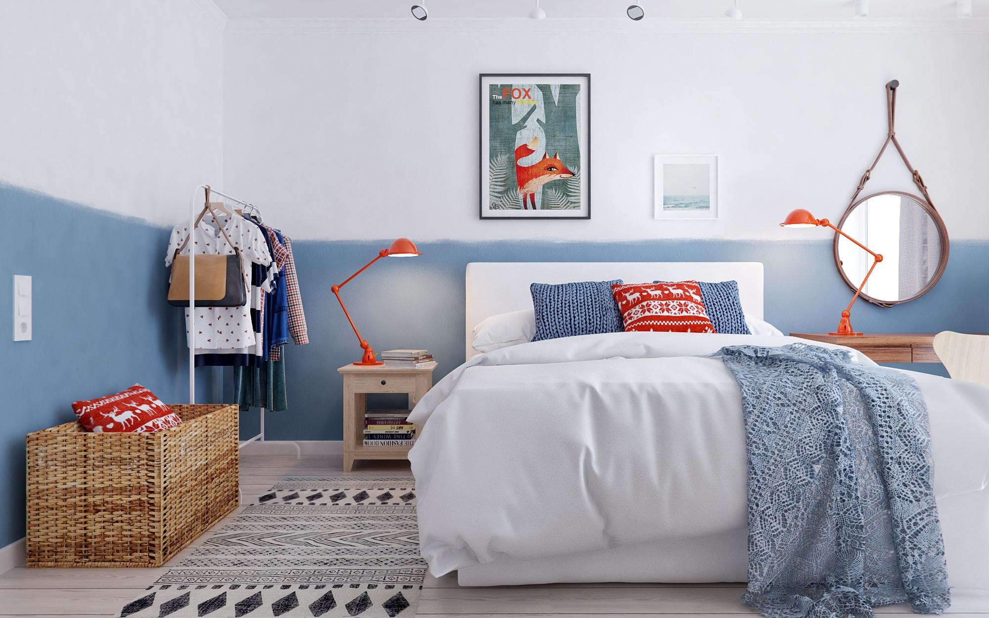 卧室最关键的是舒适,卸下白天的疲倦,将自己埋在这一袭温暖之中,让人瞬间获得归属感。
