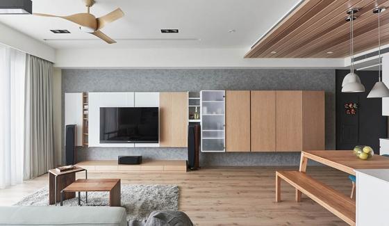 思维空间设计用大量的木质材料装饰整个空间,带来温润舒适的居家氛围,在选用深浅不一的木色打造丰富的层次