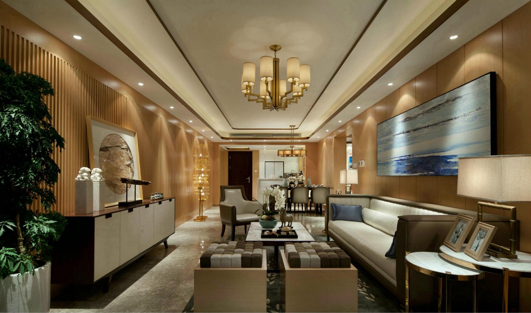 客厅墙面简洁,既透露着浓厚的自然气息,又体现出巧夺天工的精细。