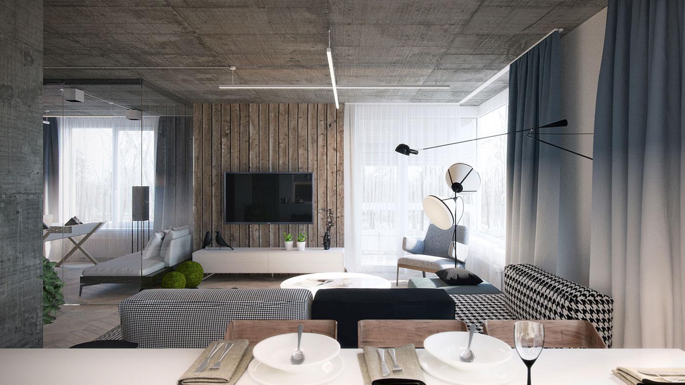 客厅的特点是面积大,空间开放性高