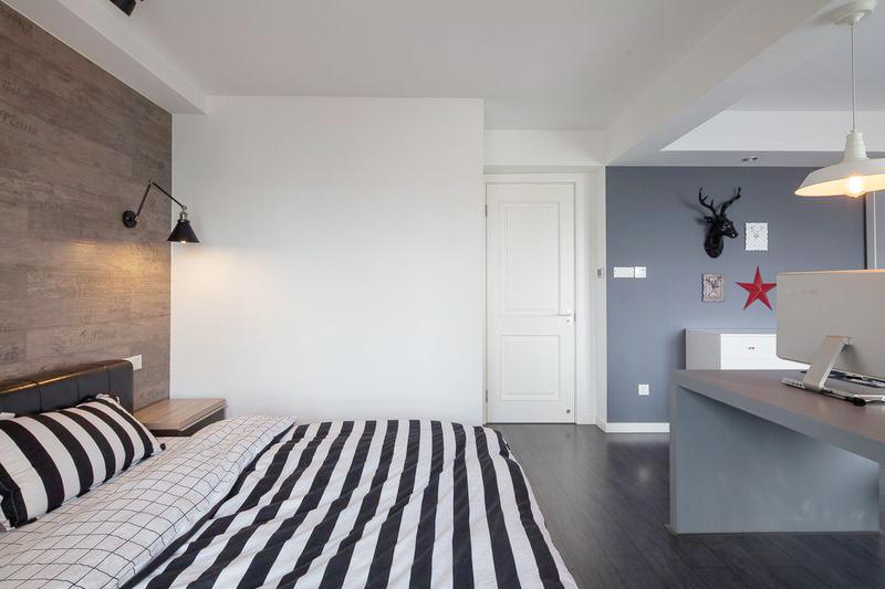 不多修饰的卧室,打造出原滋原味的北欧风情。