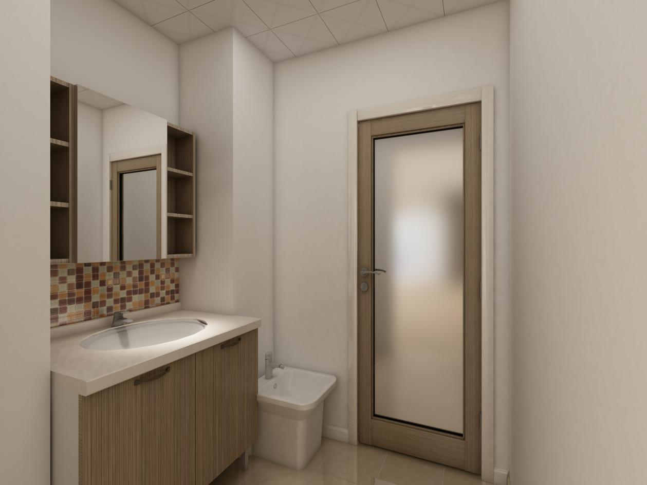 卫生间采用干湿分离的设计,也属于爱空间标配的卫生间。