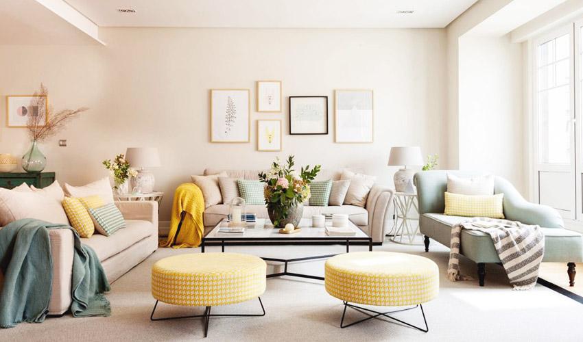 初看客厅,立马被这中性的色彩所倾倒,整个空间看不到厚重的色调。