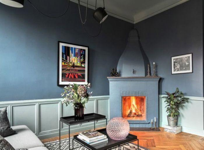 客厅壁炉不光为空间带来温暖,同时也是客厅里的一种特色装饰。