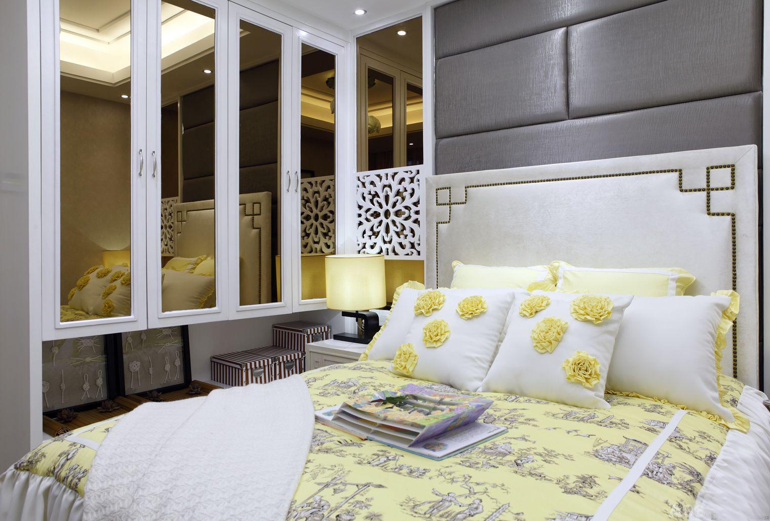 次卧采用黄色主色调设计,鲜亮生动。