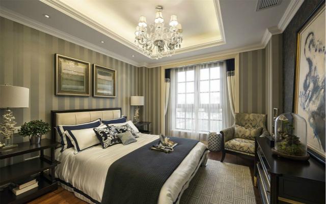 整体卧室用低调的色彩打造最奢华的家居,让你居住起来更加清新自然。
