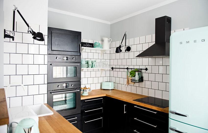 厨房细节图,放眼望去一片小清新。