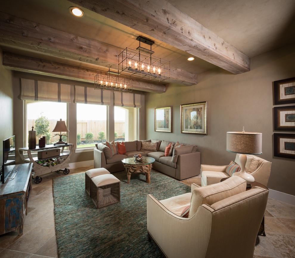 客厅是以中海风格极具亲和力柔和色调和组合搭配上的大气。