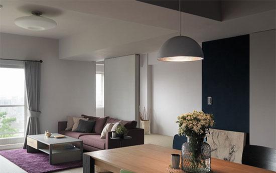 活动式门片让书房(客房)成为视线的延伸,同时贯彻了形随机能的设计语录,增加空间无限可能。
