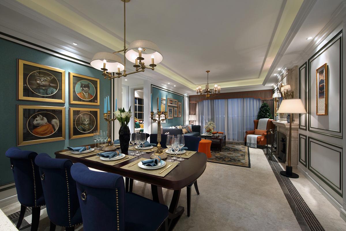 餐厅在材质、颜色等沿用了客厅设计,整体和谐自然。恰当好处的留白,则构造出空灵韵味,给人以美的享受。
