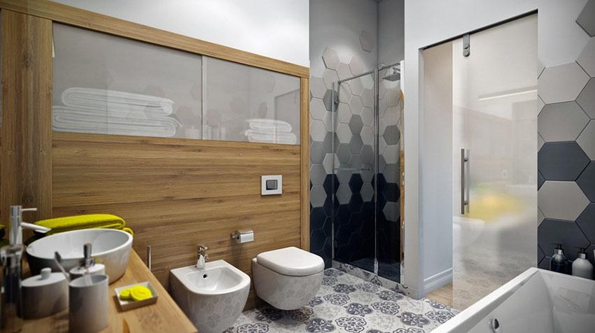 卫生间简约大方不落俗套,空间虽然较小但是布局还是非常合理的