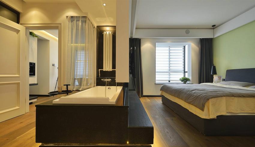屋主十分注重隐私,卧室可以算是位于家里的最深处。