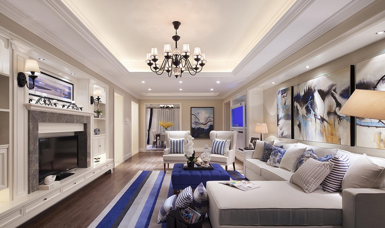 客厅相对于浓厚的欧洲风格,简欧风格为清新内敛,更加符合国人的审美。