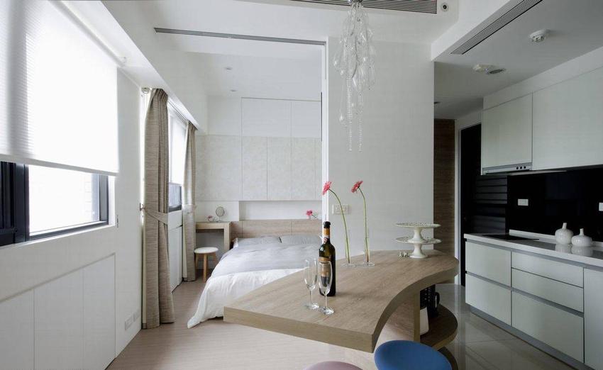 回归简约温馨的卧房,颇有日系居宅的味道。
