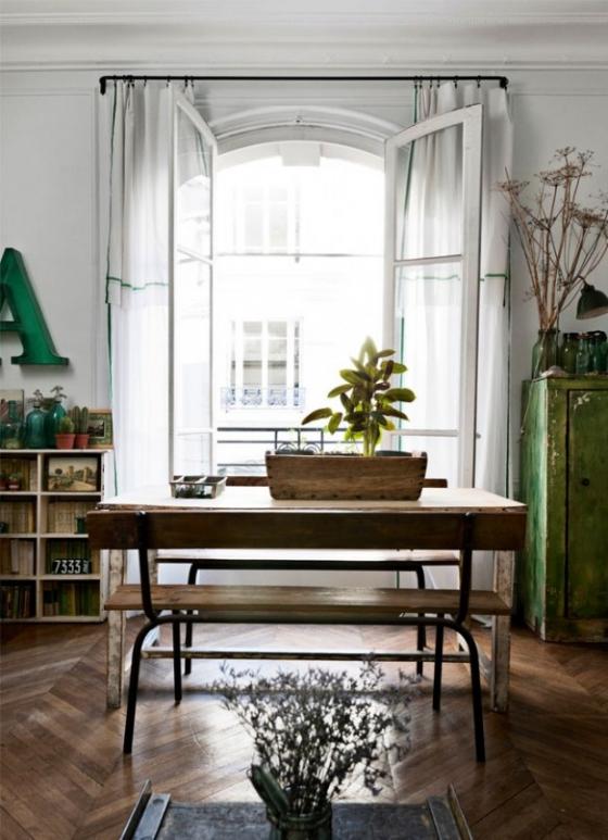 餐厅空间通过家具以及配饰的点缀,犹如古董店的精致。