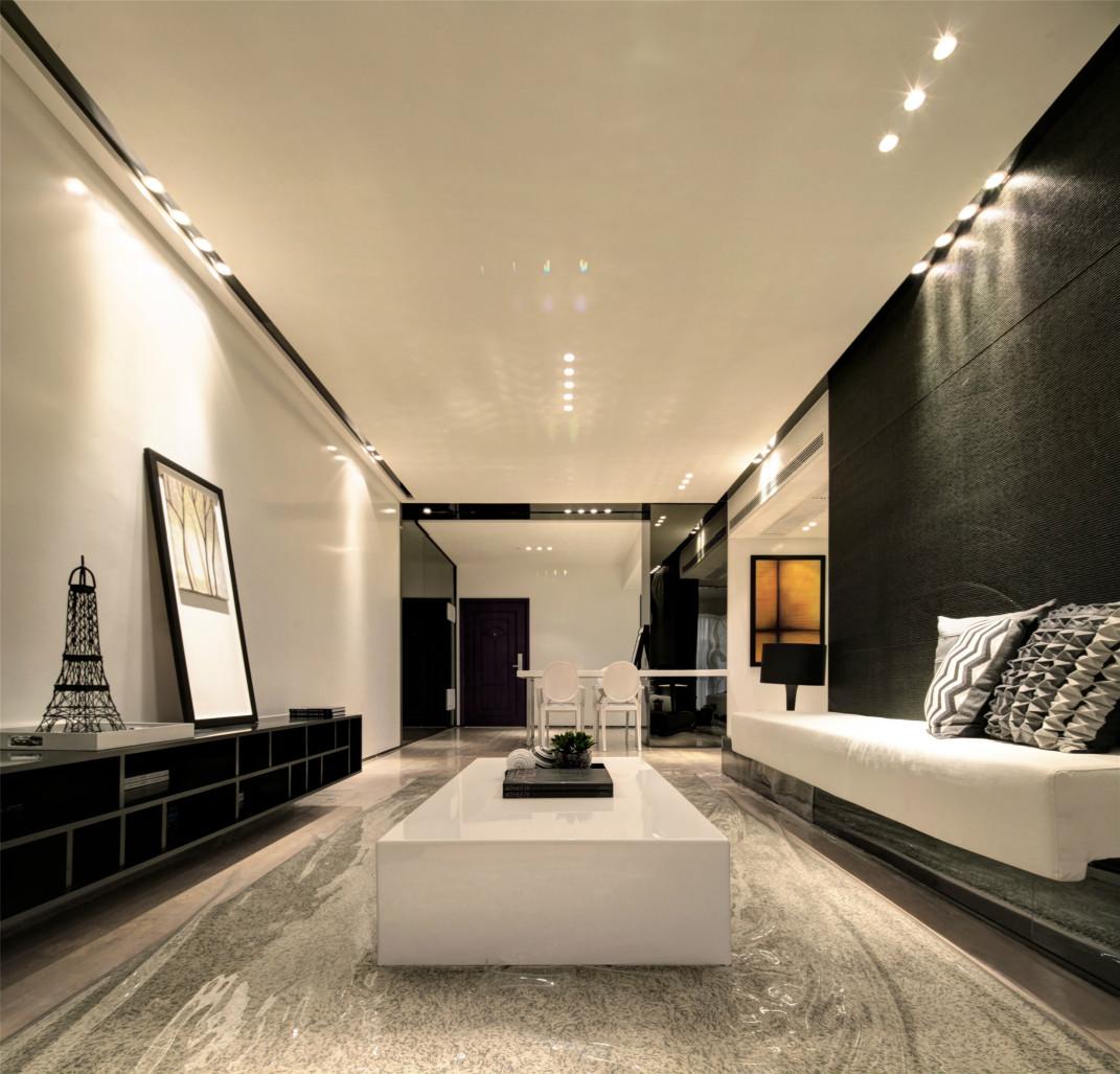 客厅,黑白经典的搭配,简约而大方。