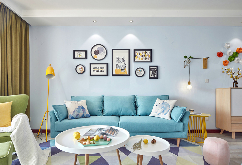 甜美的色彩,让家成为一个温馨舒适的港湾。