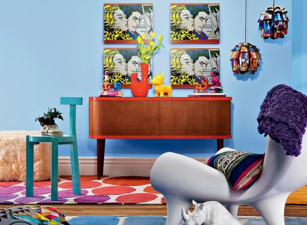 细节的装饰上更是利用了色彩的活跃度增添空间氛围。
