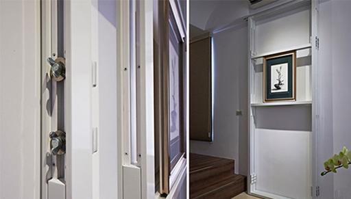 展示柜能弹性调整架子的高度,让大小尺寸的画作都能完美的放置与呈现。