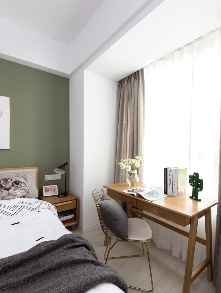 小卧室变得更富艺术性,满满潮流范儿。