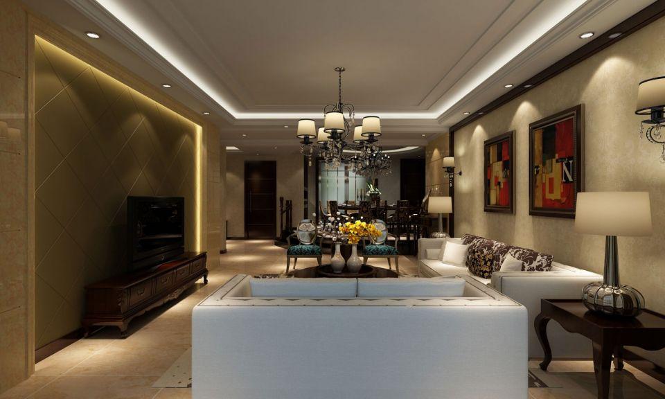 客厅多以浅色为主深色为辅,相比拥有浓厚欧洲风味的欧式装修风格更为清新。