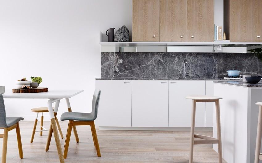 开放式的设计,让烹饪区和用餐区同时拥有宽敞的空间。