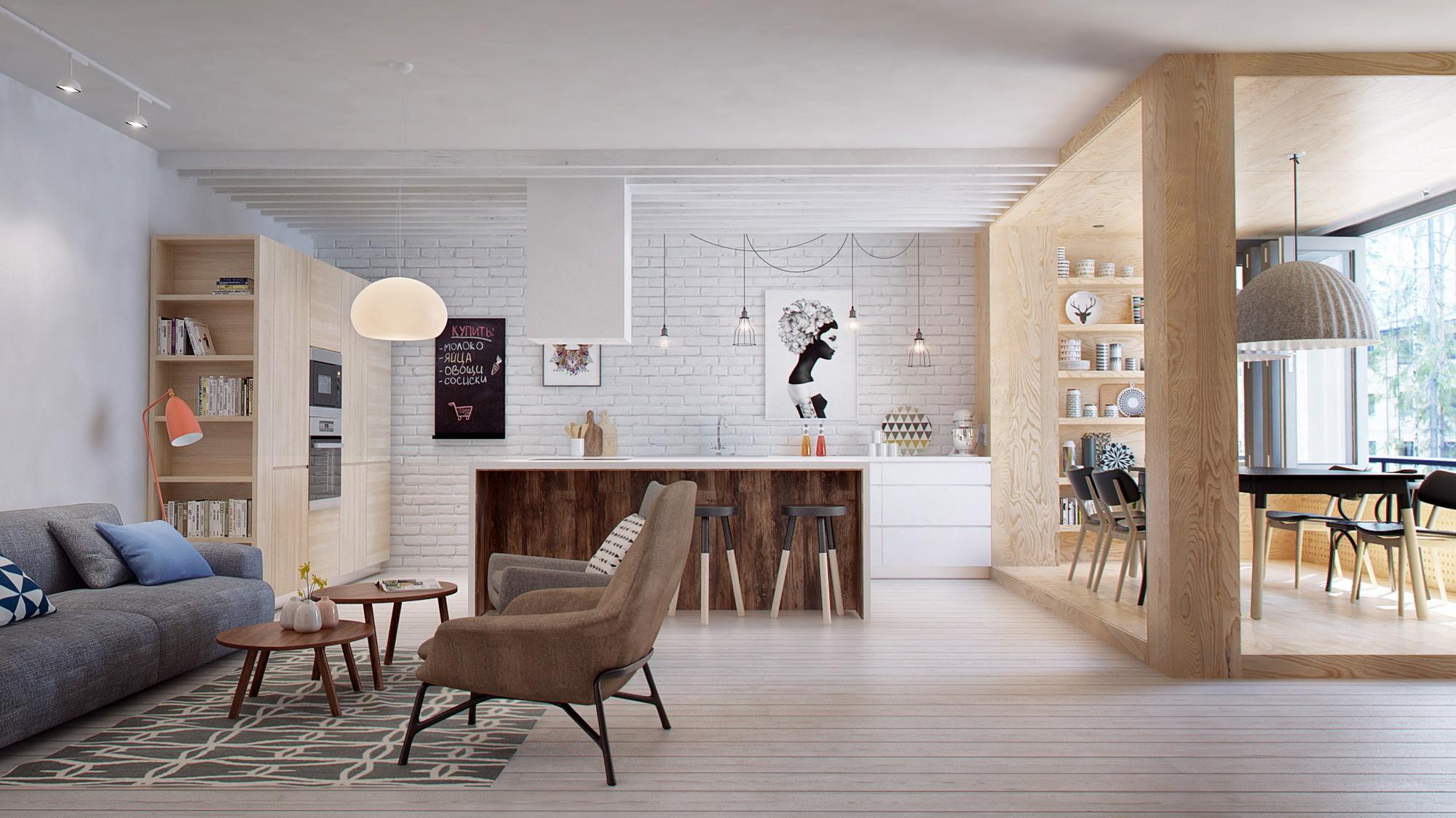 这个角度可以清晰的看到卧室和客厅是一体式