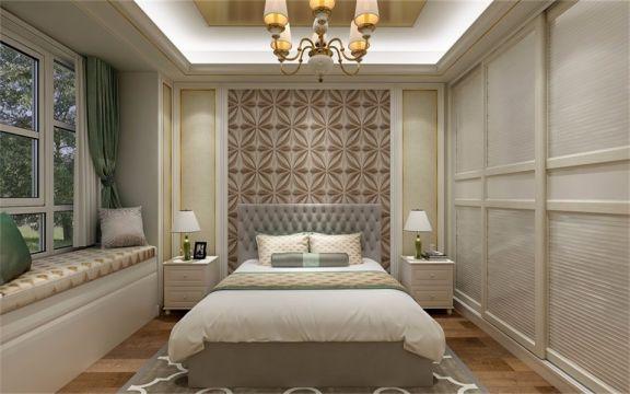 卧室采用原木地板,没有富丽堂皇色装饰和浓烈的色彩,散发着古典的气息,从空间油然生出庄重、稳重的感觉。
