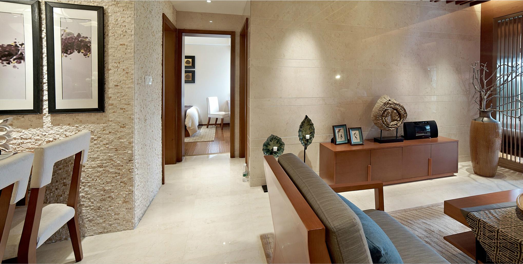 餐厅和客厅是开放式的,使整个空间更紧凑不显拥挤而且很整洁