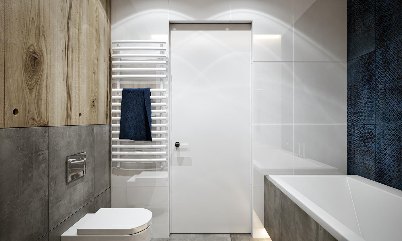 卫生间设计的是以白色为主,干净,方便处理水渍。