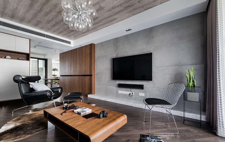 客厅的小格局,硬装上很简单,主要依靠软装来装饰,经典的色调搭配,永远都不会过时。