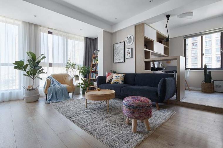 宽敞明亮的客厅,简洁又不失清新的元素。