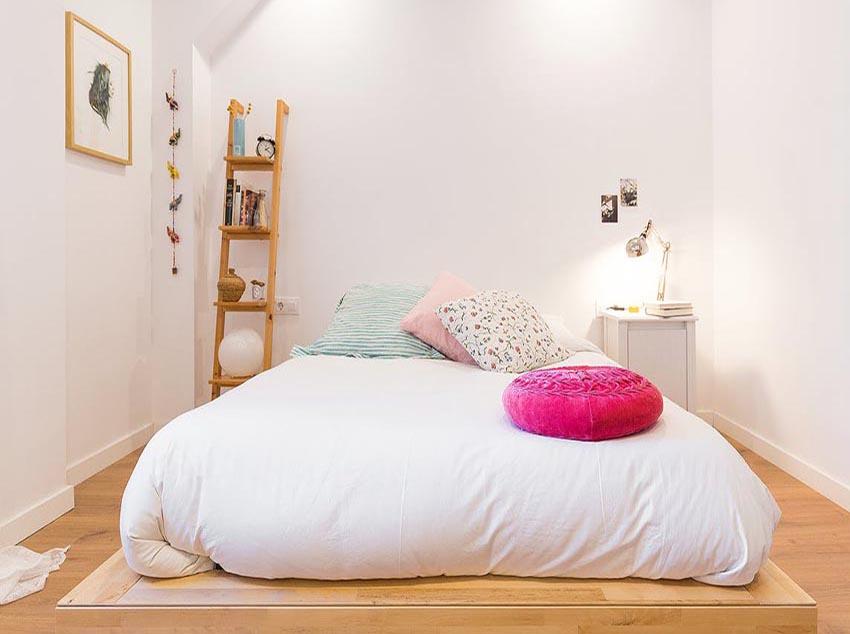 小清新的卧室设计,让你想要一直赖在床上。