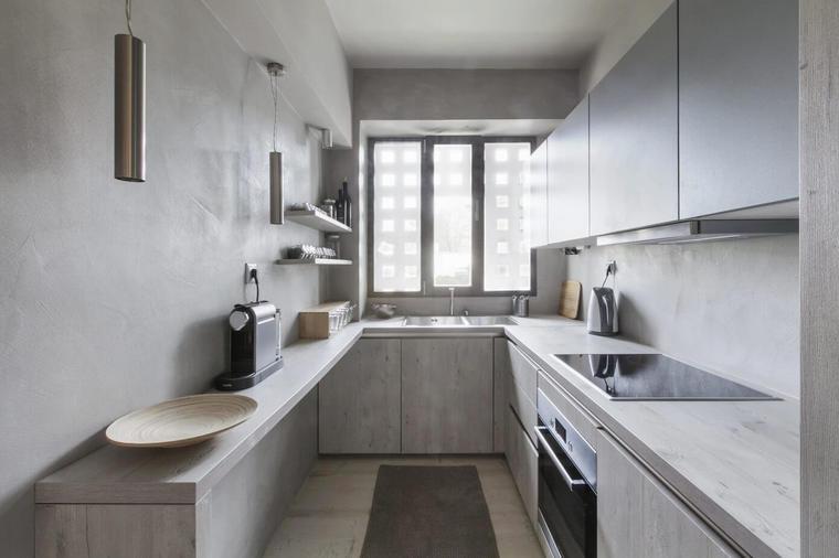 大容量储物空间可以将厨房打造的洁净。
