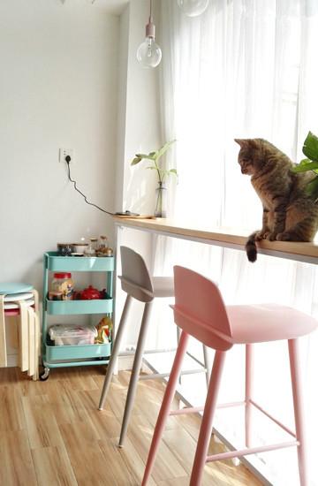 阳台变临窗吧台,是不是有点日剧的感觉呢?