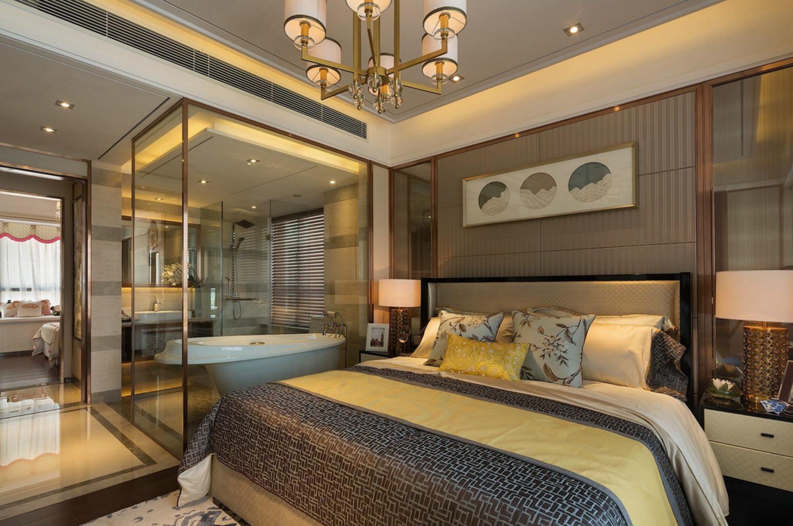 卧室的装饰表现大气得淋漓尽致,也罢品质家居完美的诠释。