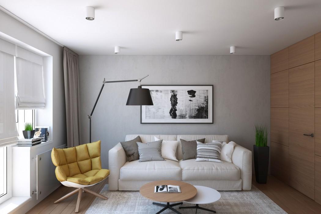 浅色的沙发带给人沉稳的感觉,又显得特别大气