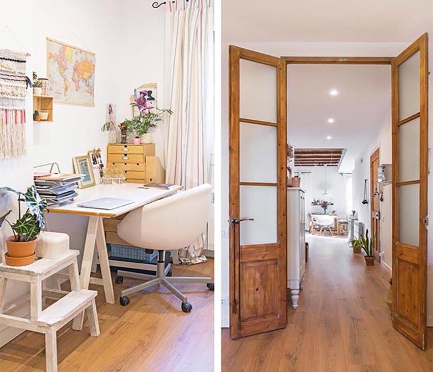 简洁的卧室不会让你感觉单调,绿植的点着,让你感受人与自然的和谐。