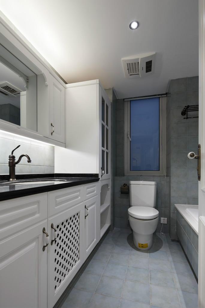 卫生间做了干湿分离,简约造型的台上盆非常喜欢