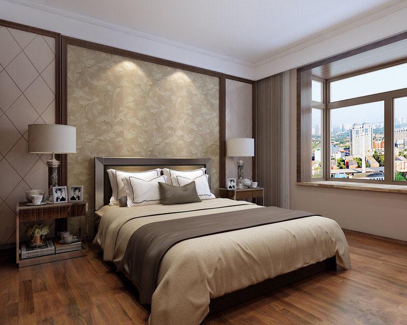 卧室从来不需要太多的装饰,舒适就是最基础的配置;米色调床头的花纹蔓延至床品,营造空间上的闲情逸趣。